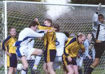 H Crouching against AFC Wimbledon 2003